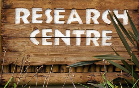 systematic: research centre sign. research center sign Stock Photo