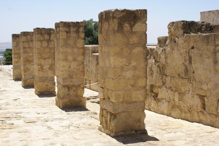 roman columns: Roman columns. ruins in Caesarea Israel Middle East