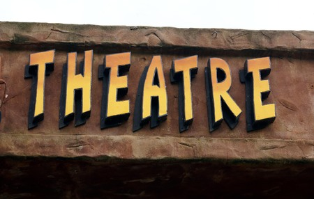 theater sign: signo teatro. signo teatro