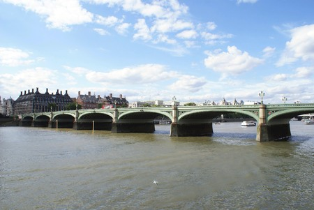 river thames: Westminster bridge River Thames London England Stock Photo