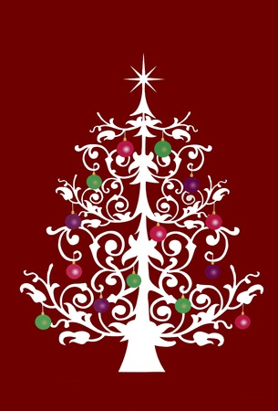 christmas tree illustration: Christmas tree illustration
