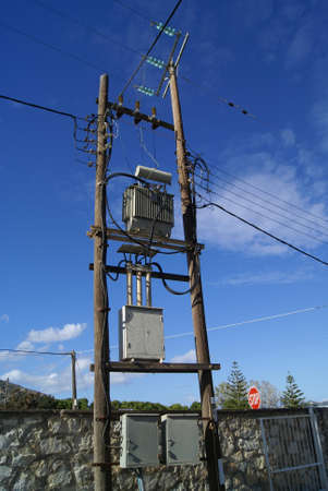 utility pole: Utility pole. power pole. transmission pole. electric pole