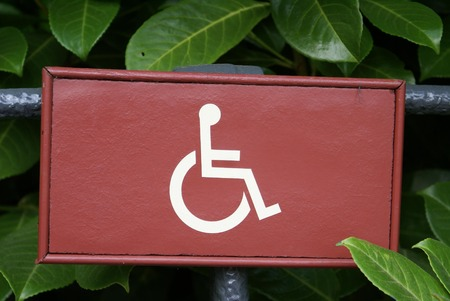 parking facilities: Disabled Parking Only Sign Stock Photo
