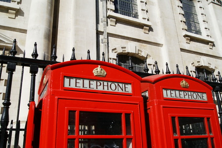 telephone booth: Telephone booth in London England Stock Photo