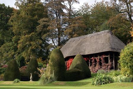 tuinhuis: zomerhuis bij Chirk kasteeltuin in Wales Engeland