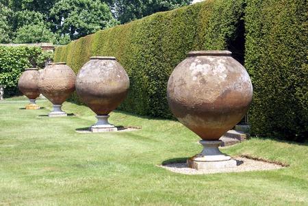 kent: Italian terracotta at Hever castle garden in Kent England