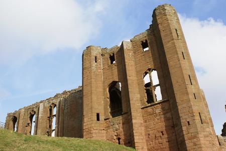 norman castle: ruined Norman Kenilworth Castle in Warwickshire England