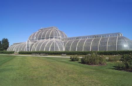 botanic: greenhouse at Royal Botanic Gardens in Kew London England