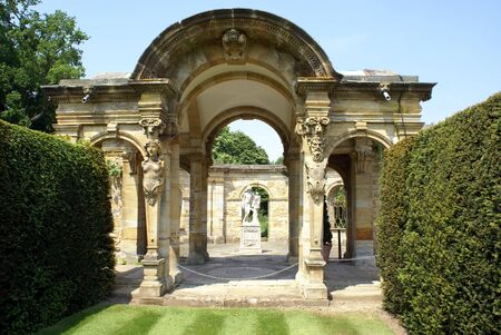 archway: archway at Hever castle garden in Kent England
