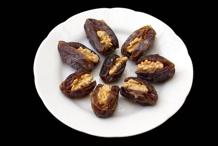 confectionery: confectionery of dates and walnuts Stock Photo
