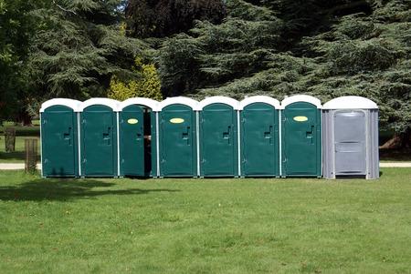 hygien: Portable toilets. porta-potties. port-a-Johns