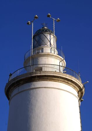 'costa del sol': Lighthouse in  Costa del Sol of Malaga, Andalusia, Spain