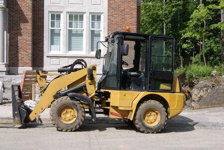 road work: Road work machine. Heavy equipment. Construction Vehicle