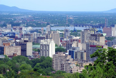 montreal city: Aerial view of Montreal City, Quebec, Canada