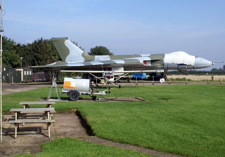 airfield: strategic bomber and ground equipment on an airfield