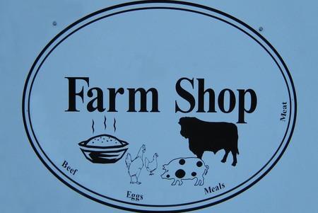 farm shop: farm shop sign Stock Photo