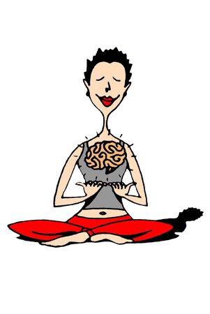 woman meditating: Woman meditating Stock Photo