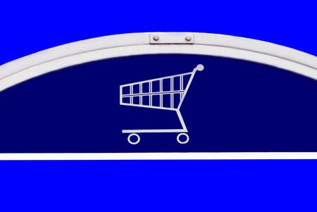 market place: shopping trolley sign. shopping cart sign. Shopping basket sign