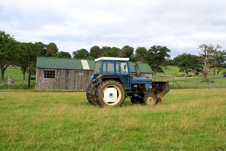 agricultural engineering: Tractor in a field