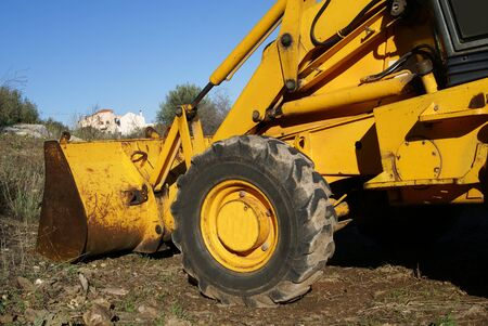 heavy: Bulldozer. Construction vehicle. Heavy equipment. Heavy hydraulic.