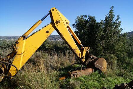 construction vehicle: Bulldozer. Construction vehicle. Heavy equipment. Heavy hydraulic.