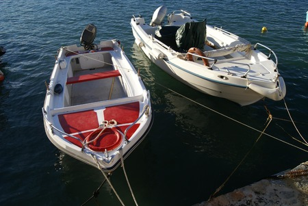 fishing boats: fishing boats. motorboats. powerboats Stock Photo