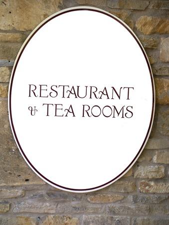public market sign: Restaurant & Tea Rooms sign