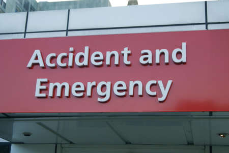 emergency sign: accident and emergency sign. hospital award sign