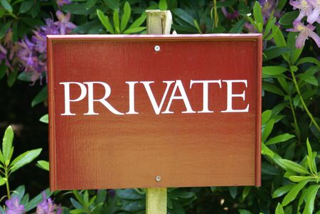 access restricted: Private sign. Private