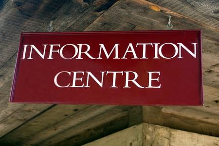 visitors area: Information centre sign