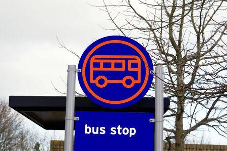 bus stop: bus stop sign