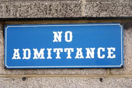 admittance: No Admittance sign Stock Photo