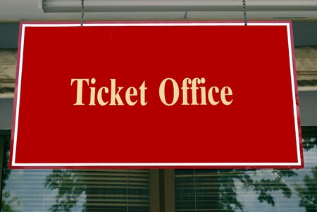 ticket office: Ticket office sign