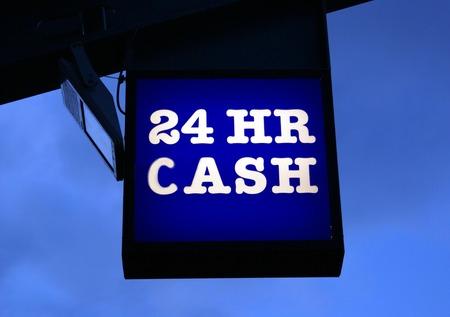 cash machine: 24 HR Cash. Cash machine sign