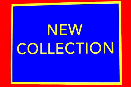 new collection: New Collection Sign Stock Photo