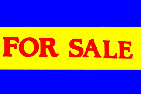 for sale sign: For sale sign