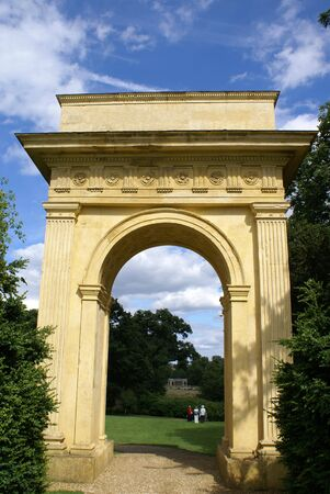 arched: gateway. arched way. archway. arch Stock Photo