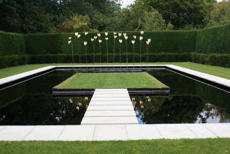 water garden: fountain Stock Photo