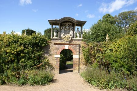 archway: gateway. archway. Stock Photo