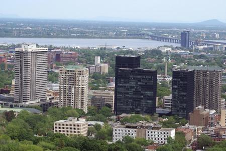 montreal city: Aerial view , Skyline, Montreal City, Quebec, Canada