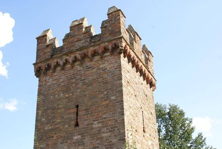 tudor: Tudor tower with battlements and arrowslits