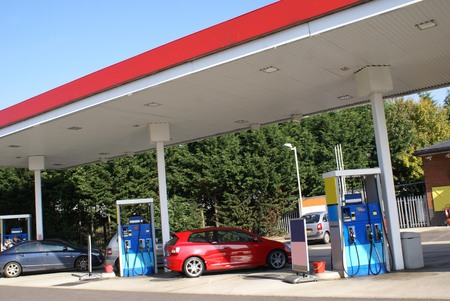 fuelling pump: Filling station. Stock Photo