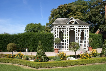 summerhouse: Old summerhouse in a garden