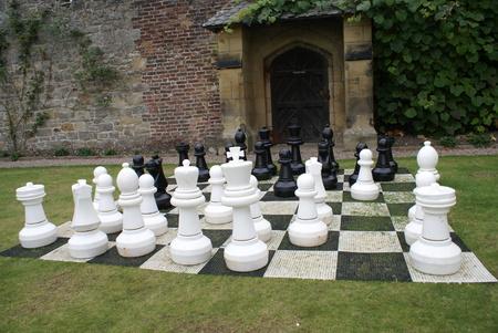 tablero de ajedrez: tablero de ajedrez jard�n. Tablero de ajedrez