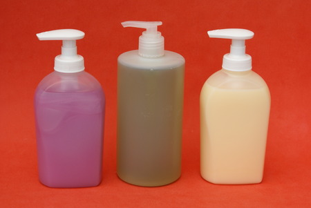handwash: bathroom toiletries Stock Photo