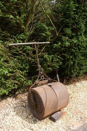 roller: vintage garden lawn roller