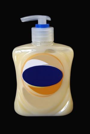 lavamanos: botella de lavado a mano jabón líquido Foto de archivo
