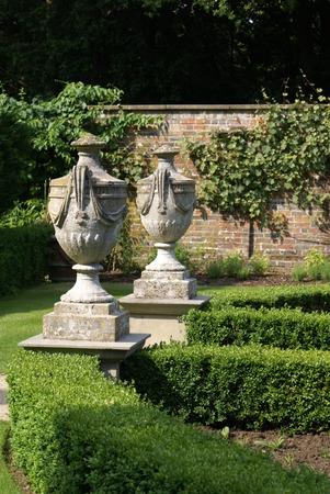 sculptured urns vases garden ornaments Stock Photo