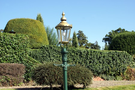 Victorian vintage lamp post. street lamp in England Stock Photo