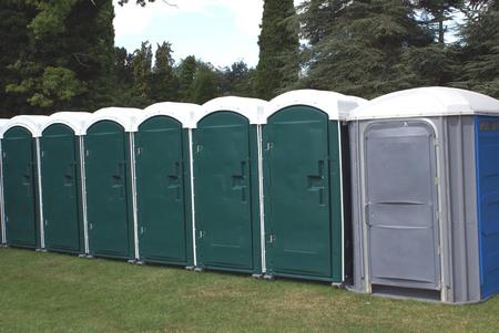 portable toilets. chemical toilets